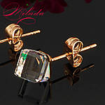 Сережки з кристалами SWAROVSKI, позолота 18-К., фото 3