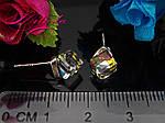 """Сережки з кристалами SWAROVSKI,срібло 925 проби,""""Хамелеон""""., фото 3"""