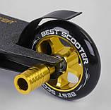 Самокат детский трюковый с усиленной рамой из алюминия 22879 Best Scooter с HIC-системой, колёса PU, фото 6