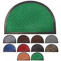 Придверні килимок на гумовій основі напівкруглий 40*60см