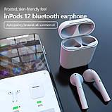 Беспроводные наушники  InPods 12 Macaron Голубые в стиле Apple AirPods сенсорные с кейсом, фото 6