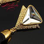 """Довгі сережки """"пензлика"""" з кристалом SWAROVSKI, фото 2"""