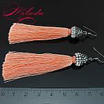 Сережки - пензлики персикові., фото 2