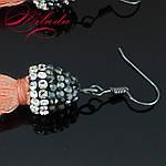 Сережки - пензлики персикові., фото 3