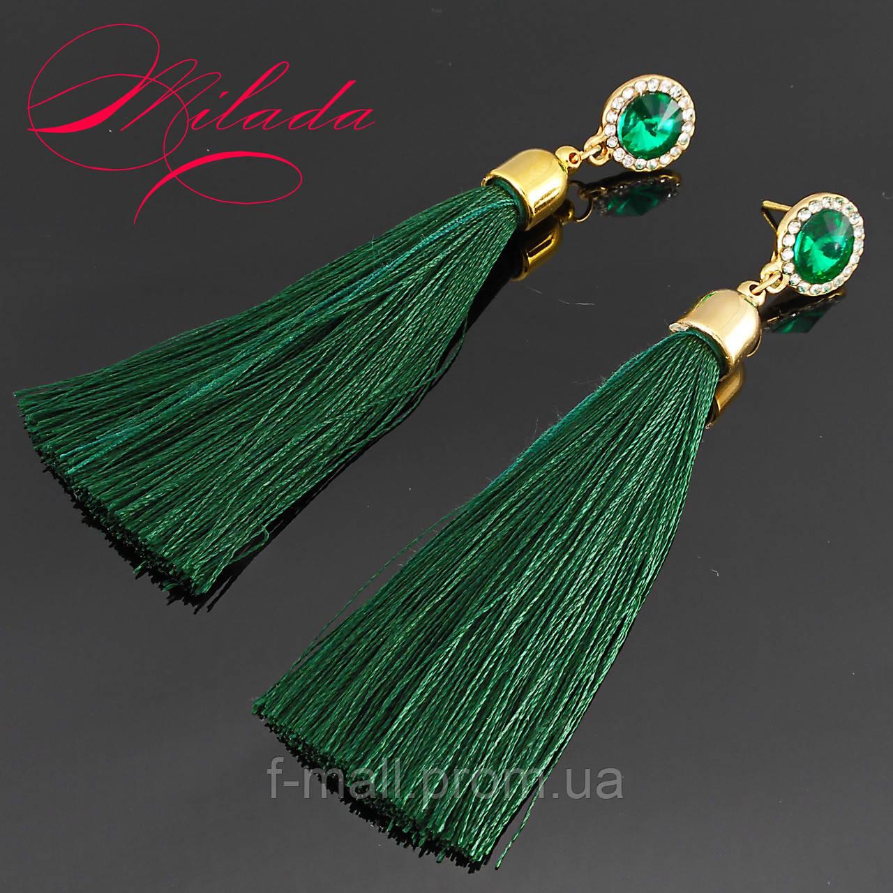 Сережки - пензлики зелені.