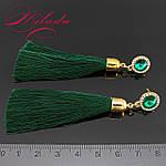 Сережки - пензлики зелені., фото 2