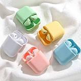 Беспроводные наушники  In Pods 12 Macaron Зелёные в стиле Apple AirPods сенсорные с кейсом, фото 3