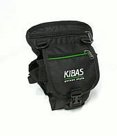 Поясная сумка-держатель на бедро Kibas 260х160х130 мм Чёрная с зеленым
