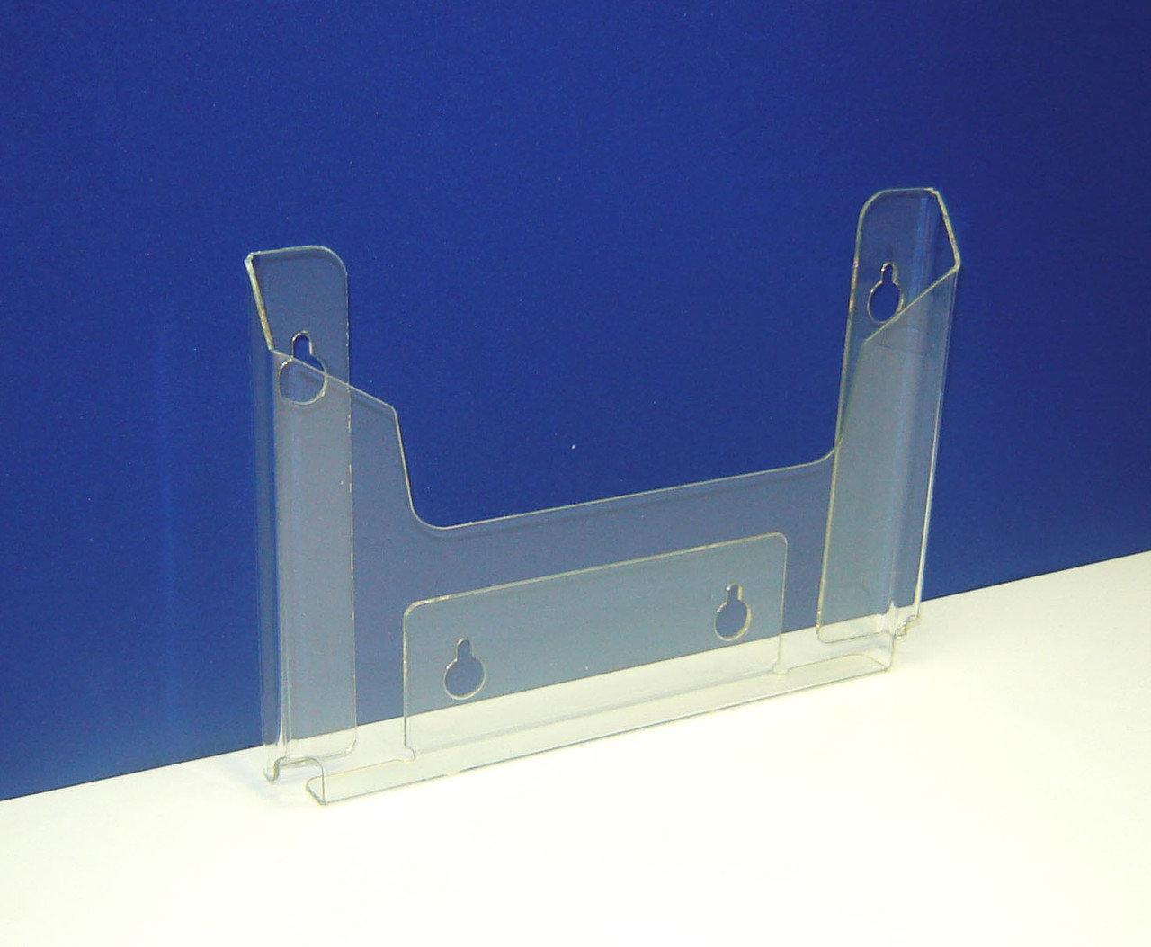 Кишені буклетниця настінна А5 горизонтальний 15 мм 1,5 мм ПЕТ грушоподібні