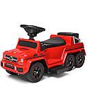 Детская каталка-толокар BAMBI Mercedes-Benz M 3853EL-3  красный, фото 3