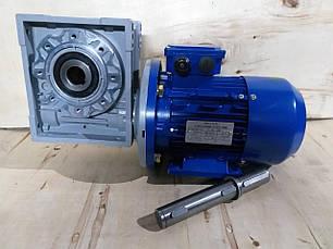 Червячный мотор-редуктор NMRV-110 1:30 с 3 квт 1500 об.мин  на выходе вала редуктора 50 об.мин, фото 2