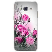 Чехол Print для Samsung Galaxy J7 Neo / J701 силиконовый бампер с рисунком Roses Pink