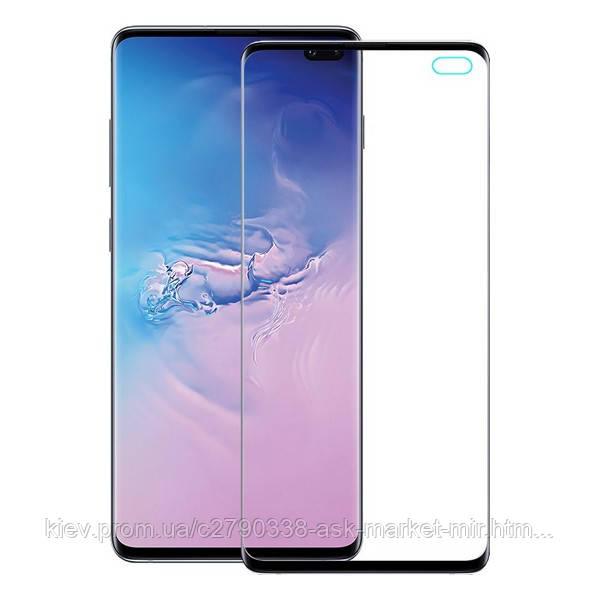 Захисне скло ProGlass для Samsung Galaxy S10 Plus G975F На весь екран Black