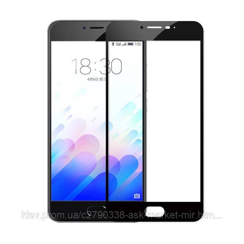 Защитное стекло ProGlass для Meizu M5c M710H На весь экран Black