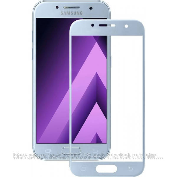 Защитное стекло ProGlass для Samsung Galaxy A3 2017 (A320F, A320Y) На весь экран Blue