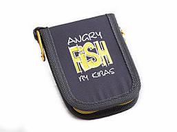 Чохол для блешень і воблерів гаманець KIBAS Angry Fish розмір M 130х110х20 мм Жовтий