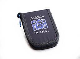 Чохол для блешень і воблерів гаманець KIBAS Angry Fish розмір M 130х110х20 мм Синій