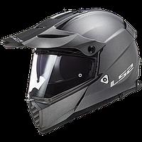 Шлем LS2 MX436 PIONEER MATT TITANIUM, фото 1