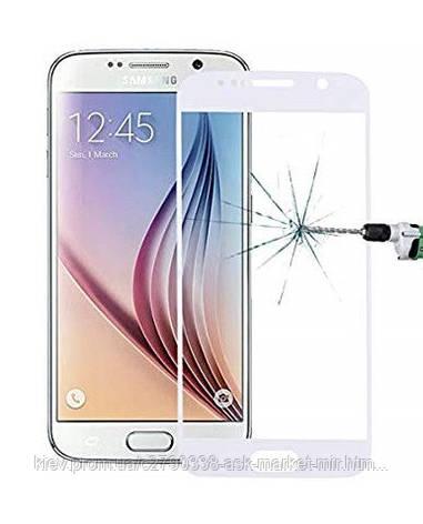 Захисне скло ProGlass для Samsung Galaxy S6 G920F, Galaxy S6 Duos G920FD На весь екран White, фото 2