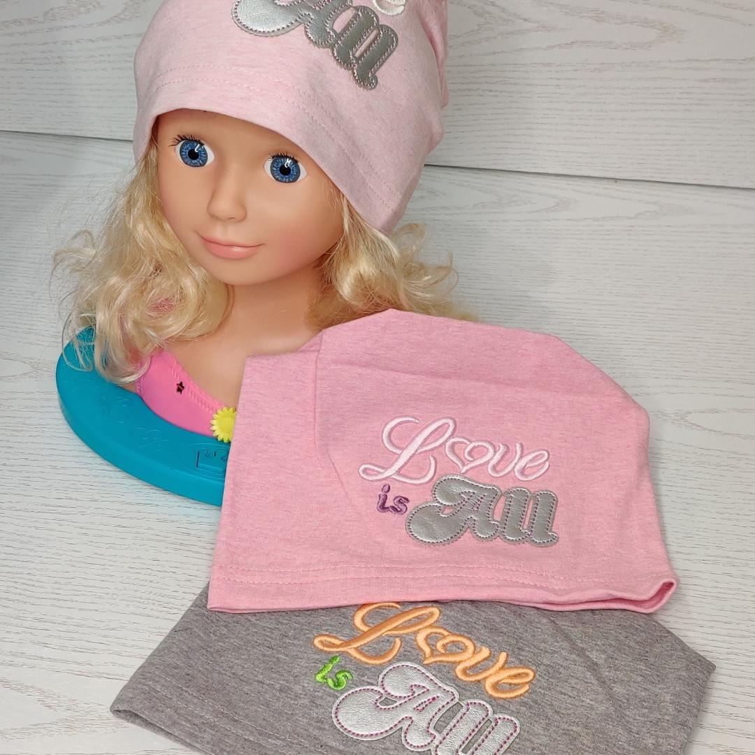 Шапка для девочки Fido Польская трикотажная шапка Размер 50-54 см