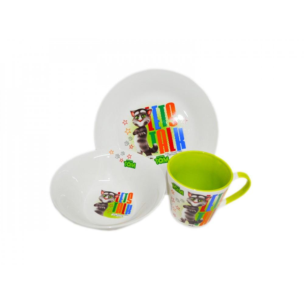 """Набір дитячий керам. 3предм. """"Tom"""" (тарілка,салатник,чашка) №76000325/5192"""