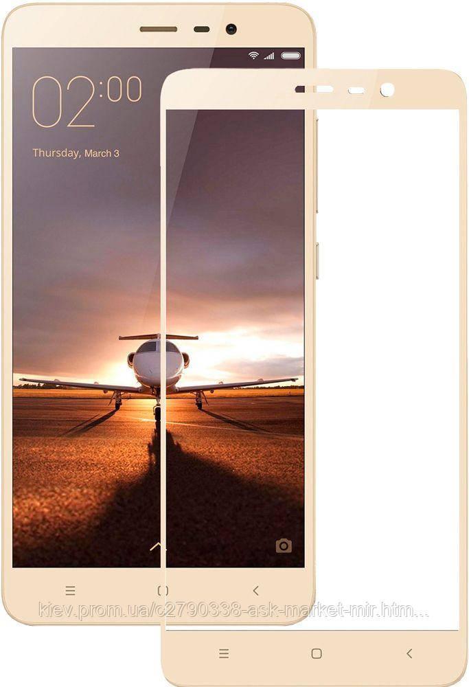Защитное стекло ProGlass для Xiaomi Mi Note 3 На весь экран Gold