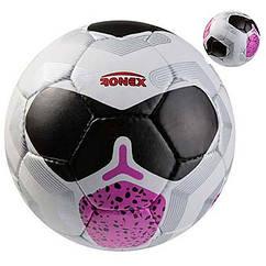 Мяч футбольный Grippy Ronex NK, черный/розовый