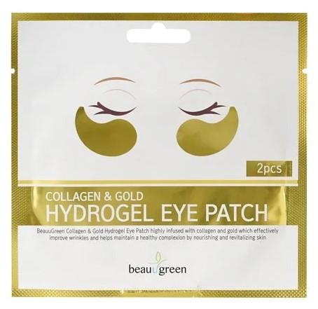 Гидрогелевые патчи под глаза BeauuGreen Collagen & Gold Hydrogel Eye Patch Упаковка 2 шт