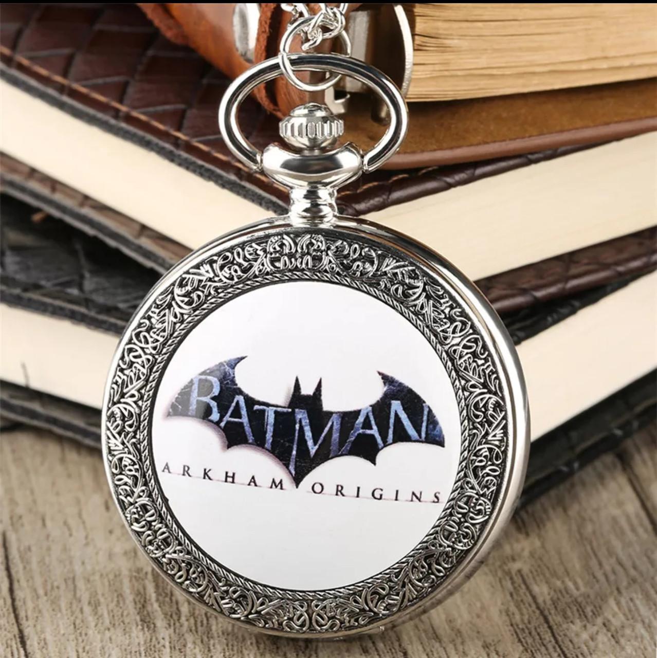 Карманные мужские часы на цепочке Batman