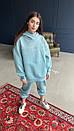 Спортивный костюм из трехнитки на флисе женский с свободным худи и штанами на манжетах (р. 40 - 58) 18so1188, фото 4