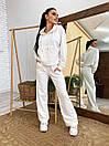 Спортивный костюм из трехнитки с свободным худи и расклешенными штанами (р. 42-48) 4so1189, фото 8