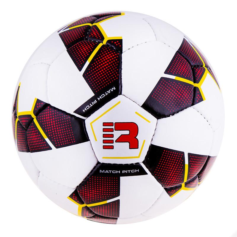 М'яч футбольний Grippy Ronex PRIDE R-201, біло/червоний.