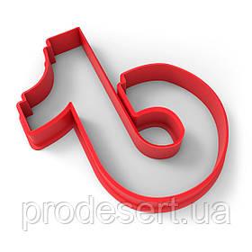 Вырубка для пряников Тик Ток 1 7*6 см (3D)