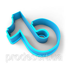Вырубка для пряников Тик Ток 2 5*4,3 см (3D)