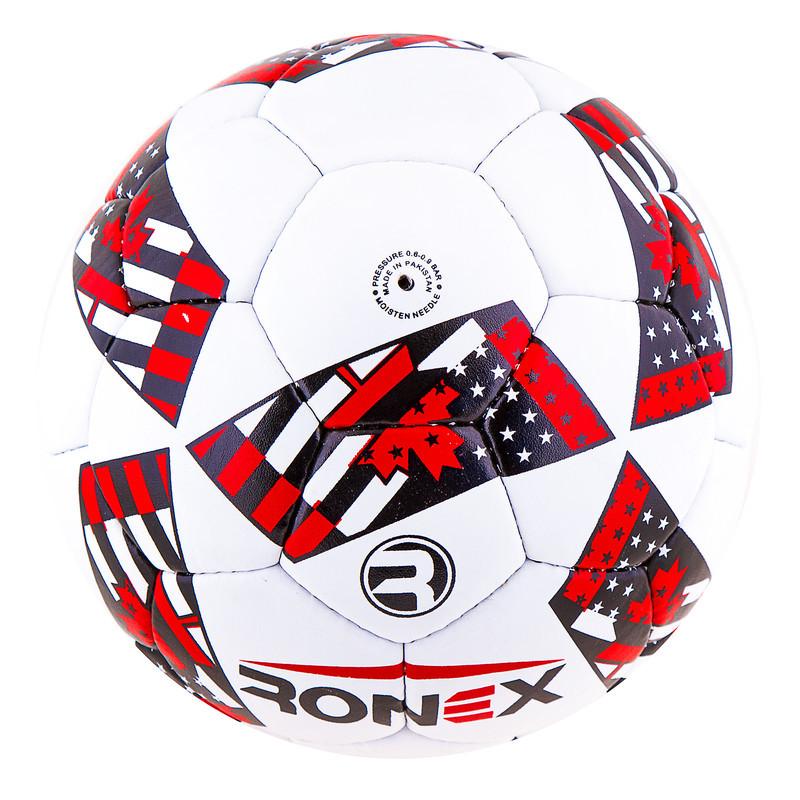 Мяч футбольный Grippy Ronex AD-16, красный.