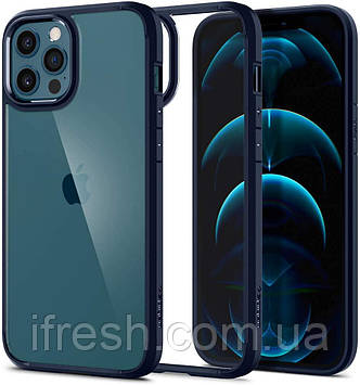 Чехол Spigen для iPhone 12 Pro Max - Ultra Hybrid, Navy Blue (ACS02248)