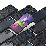 Чохол для Samsung Galaxy M51 Ringke серія Fusion X, колір BLACK (чорний), фото 8