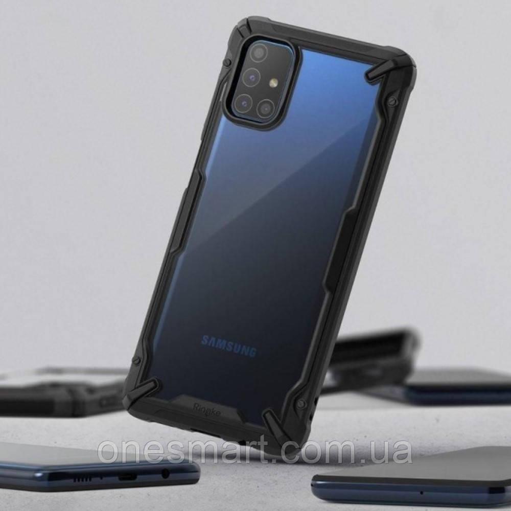 Чохол для Samsung Galaxy M51 Ringke серія Fusion X, колір BLACK (чорний)