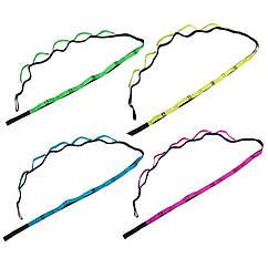Ленточный эспандер, 235 х 2,5см, 12 петель, цвета в ассортименте