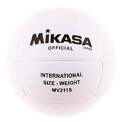 Мяч волейбольный Mikasa MV211S, белый. Скидка