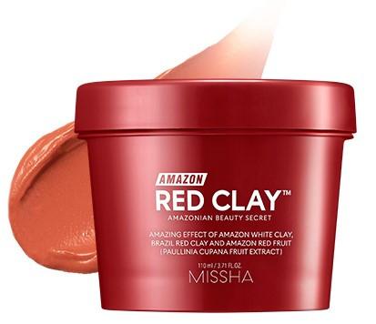Маска из красной глины для жирной и проблемной кожи Missha Amazon Red Clay™ Pore Mask 110 мл