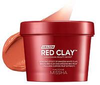 Маска из красной глины для жирной и проблемной кожи Missha Amazon Red Clay™ Pore Mask 110 мл, фото 1
