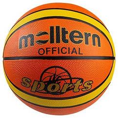 Мяч баскетбольный резиновый №7, Molltern Official Sport оранжевый. Скидка от 50 шт.