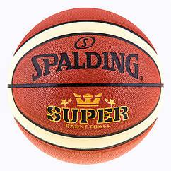 Мяч баскетбольный Spalding №7 PU Super (полоса)