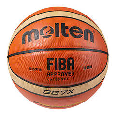 Мяч баскетбольный Molten №7 PU GG7X 2015-2019.