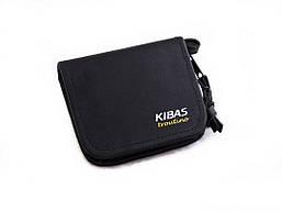Футляр для блешень приманок вертушок гаманець KIBAS розмір S 110х100х20 мм Чорний