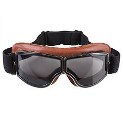 Очки лыжные GX-08, кожа