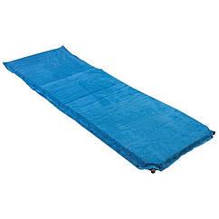 Килимок туристичний надувний, 188х64х4см, блакитний, велюр.
