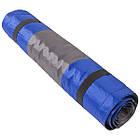 Килимок туристичний надувний 188х64х3/8см, синій, салатовий., фото 7