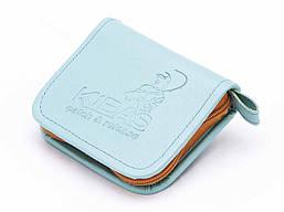 Футляр для блешень приманок вертушок гаманець KIBAS розмір S 110х100х20 мм М'ята